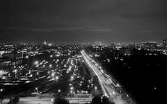 My night is Black and White. (neverlandphotography) Tags: nightphotography night x100 moscownight fujiflimx100 dormitorymephi nrnumephi