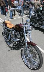 Tan seats (D70) Tags: show canada vancouver bc tan motorcycles harley seats trev davidson deeley shorenswine