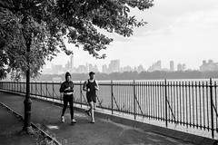 run and rain 3 (zoolien) Tags: leica blackandwhite bw usa newyork rain noiretblanc centralpark manhattan run nb m9