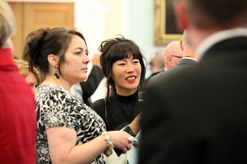 Inge De Leeuw attending a drinks reception at Surgeons Hall