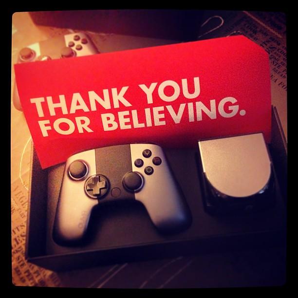 """""""Gracias por creer"""" Por fin llega #OUYA, la consola basada en Android que apoyé en #kickstarter"""