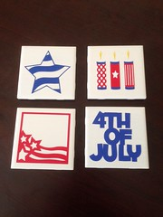 4th of July coasters (CCM Paper Designs) Tags: silhouette gifts 4thofjuly redwhiteandblue coasters uploaded:by=flickrmobile flickriosapp:filter=nofilter