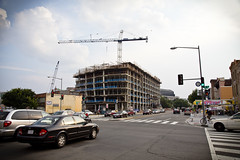 2013 07 19 - 6221 - DC - NY from 6th NW (thisisbossi) Tags: usa streets washingtondc dc construction nw unitedstates northwest cranes roads newyorkavenue 6thstreet sixthstreet intersections arterials