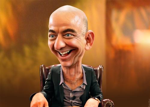 Jeff Bezos - Caricature