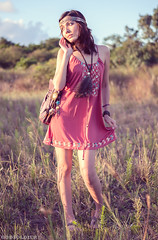 Olivia (GodSoldier671) Tags: sunset red sun sunlight nature girl beauty grass fashion female outdoors pretty dress photoshoot hippie mothernature