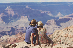 let yourself go (Alain Hus) Tags: life road park camera trip wild arizona mountain color love film nature analog vintage photography truth couple desert pastel grain rocky grand canyon hike national indie romantic dust sapphiring