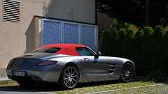 Mercedes SLS AMG Roadster (mufracsek) Tags: auto car grey mercedes austria sterreich nikon exotic supercar sls amg roadster velden d90 aut wrthersee 2013 worldcars pengeverdk sportwagentreffen sportwagenfestival