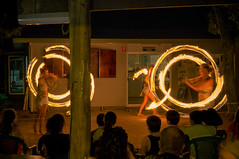 Playing with fire (luke_j_) Tags: circus performers firetwirling