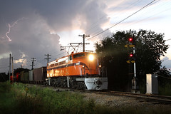 South Shore T Storms (M. Lastovich) Tags: light chicago storm electric museum night photo illinois bend little south union railway trains joe class il shore css lightening ge 800 803 railroads irm ef4