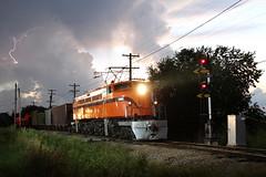 South Shore T Storms (M. Lastovich) Tags: light chicago storm electric museum night photo illinois bend little south union railway trains joe class il shore css lightening ge 800 803 railroads irm ef4