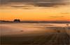Beckhampton Twightlight Mists (Chris Beard - Images) Tags: uk mist misty sunrise landscape dawn farmland september fields wiltshire strawbales mists beckhampton