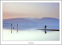 Working in the Loch (flatfoot471) Tags: winter sunset people rural landscape gavin scotland twilight dusk balloch lochlomond westdumbartonshire