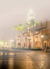 "Foggy Night on Carthay Circle • <a style=""font-size:0.8em;"" href=""http://www.flickr.com/photos/85864407@N08/9844245214/"" target=""_blank"">View on Flickr</a>"