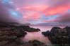 PINK SUNSET (ludas71) Tags: sunset tramonto nuvole mare scogliera scozia lenticolare isoladiskye clickalps lucagino