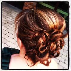 Bridemaid Updo Fall (stylebybravura) Tags: hair oak curls sbb highlights medium brook bangs hairstylist updo hairstyling mcdonaldscampus