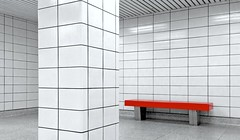 subway tiles 2 (Mr.  Mark) Tags: red white toronto lines bench subway square photo pattern geometry stock pillar tiles rectangle markboucher