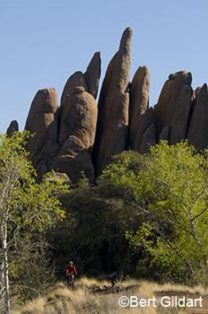 Peavine Trail & columnar rocks