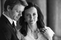 Couple (tmbgodman) Tags: wedding blackandwhite beautiful beauty bride engagement soft dress natural bokeh ring brunette elegant