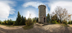Kaiserturm - 360° (diwan) Tags: sky panorama nature canon germany geotagged deutschland eos stitch natur himmel harz panoramix 360° ptgui saxonyanhalt sachsenanhalt 2013 kaiserturm armeleuteberg canoneos650d spivpano walimexprofisheye835 geo:lon=10781437 geo:lat=51816380