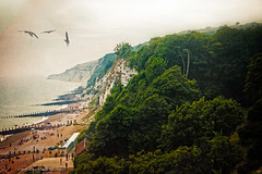 Misty Eastbourne (Pixielated Pixels) Tags: england mist beach fog cliffs eastbourne pixels chrislord pixielated