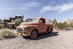 80 (studioximaging) Tags: red arizona blackandwhite mountain ford car truck private automobile cola coke canyon eldorado international abandon junkyard vintagecars gaspumps pickers goldmine oldsigns techatticup 32bithdr