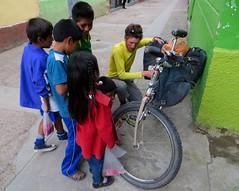 Bike cleaning in Cangallo