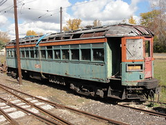 Interurban (millermeteor67) Tags: old railroad ohio abandoned train trolley tracks railway forgotten locomotive interurban