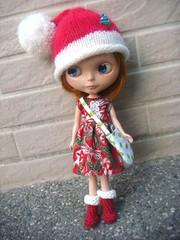 Christmas theme dress for Blythe