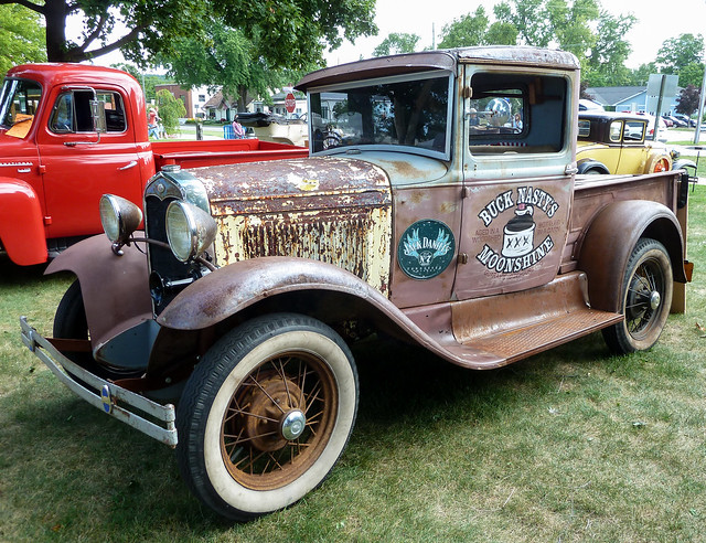 rust rusty crusty ratrod boynecitymichigan modelafordpickuptruck bucknastysmoonshine