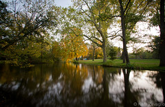 Autumn in Amsterdam (karazavaglio) Tags: park longexposure autumn trees plants holland tree fall nature netherlands amsterdam break study abroad pathway