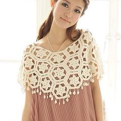 เสื้อคลุมไหล่ ชุดราตรีแฟชั่นเกาหลีถักนิตติ้งผ้าคอตตอนนุ่มสวยหรูหรา ถักลาย6เหลี่ยมสวยแต่งตุ้งติ้ง เหมาะสำหรับใส่คลุมไหล่ชุดราตรี ชุดไปงานแต่งงาน เป็นเสื้อคลุมไหล่แบบสวมคอฟรีไซส์ระบาย ไม่ต้องกังวลว่าต้นแขนจะเป็นปัญหาเมื่อสาวๆใส่ชุดราตรีและชุดไปงานแต่งงานแบบ
