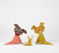 Origami création - Didier Boursin - Chiens