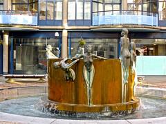 That Fountain again (phxdailyphotolady) Tags: england sculpture london art fountain bronze southbank bathing nymphs antonydonaldson