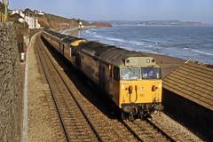 British Rail Class 50 + HST - Dawlish (Neil Pulling) Tags: uk train railway devon seashore britishrail hst gwr dawlish britishrailways class50 class43 dawlishrailway