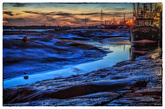 Sunset at Leigh Creek-2-2 (TomTam1) Tags: sunset sea england boat hdr oldleigh colorefex d7000