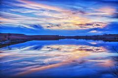 Reflecting Pool (Kansas Poetry (Patrick)) Tags: sunset kansas flinthills cottonwoodfalls patrickemerson patricklovesnancy