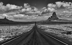 Winter Road to Monument Valley (Jeff Clow) Tags: travel winter arizona landscape highway seasons getaway roadtrip traveling majestic kayenta jeffrclow