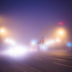 fog. (angsthase.) Tags: light people cars 6x6 fog night germany square deutschland licht nacht streetlights human nrw ruhrgebiet dortmund 2014 kreuzviertel ruhrpott mft möllerbrücke micro43 lumixg20f17 epl5 olympuspenepl5