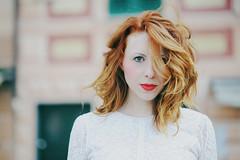 Lucia (L e t i) Tags: red girl look nikon lips redhead lucia camogli gaze d700 lvphotography landvphotography
