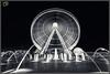 Eye of the Emirates (Jogesh S) Tags: longexposure bw fountain canon uae ferriswheel etisalat sharjah 6d giantwheel alqasba eyeoftheemirates canonef1635mmf28liiusm canonef1635f28lii