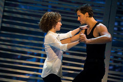 """Jillian Mueller as Baby and Samuel Pergande as Johnny in """"Dirty Dancing – The Classic Story on Stage"""" presented by Broadway Sacramento at the Community Center Theater December 26, 2014 – January 4, 2015. Photo by Matthew Murphy."""