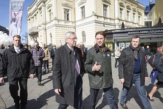 Jean-Claude Juncker visit to Helsinki, Finland; 16 April