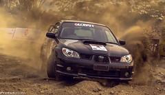 Rally (protulphoto) Tags: black car mud rally dirt subaru sti