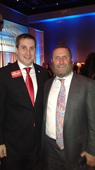 Candidate for US Congress Joe Kaufman with Rabbi Shmuley Boteach at WIZO Annual Gala dinner
