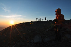 Sunrise at the peak of Mount Semeru (ahtuck) Tags: semeru eastjava mahameru