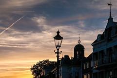 Sunset in the city... (Lefers.) Tags: bridge sunset holland netherlands river gold fuji nederland anchor anker deventer ijssel overijssel xt1