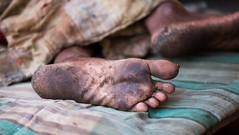 rugged n tired (durgeshnandini) Tags: sleeping texture feet tired soles jaipur rugged begger canoneos6d