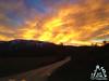 Tramonto rosso fuoco sulla Majella - Abruzzo - Italy