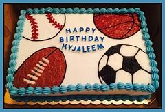 Sports cake by Triad, NC, www.birthdaycakes4free.com