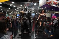 Batman & Wonder Woman statues (Gage Skidmore) Tags: california woman wonder san comic diego center convention batman con 2015